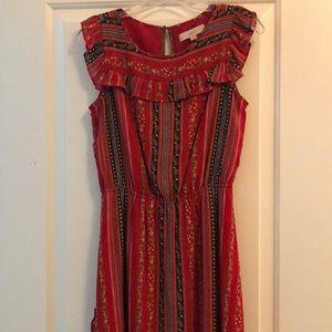 Loft Red Patterned Dress